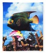 Fish Sculpture Fleece Blanket