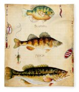 Fish Trio-c Fleece Blanket