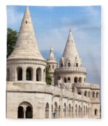 Fisherman Bastion In Budapest Fleece Blanket