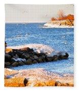 Fishermans Cove Fleece Blanket