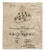 Fisherman's Hat Patent Fleece Blanket