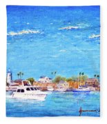 Fisherman's Village Fleece Blanket
