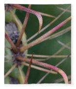 Fishhook Barrel Cactus Spines Fleece Blanket