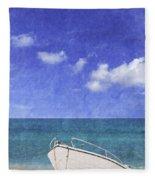 Fishing Boat Algarve Portugal Fleece Blanket