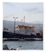 Fishing Boat Apostolos - Samos Fleece Blanket