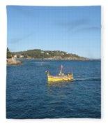 Fishing Boat - Cote D'azur Fleece Blanket