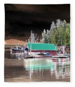 Fishing Boat Dock - Ketchican - Alaska - Photopower 02 Fleece Blanket