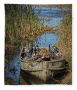 Opening Day Hunting Boat Fleece Blanket