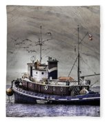 Fishing Boat Fleece Blanket