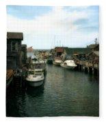 Fishing Boats In Fishtown Fleece Blanket