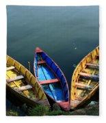 Fishing Boats - Nepal Fleece Blanket