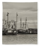 Fishing Boats - Wildwood New Jersey Fleece Blanket