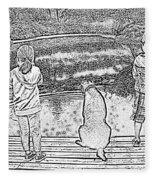 Fishing Buddies Fleece Blanket