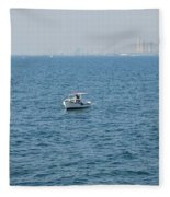 Fishing Can Be Lonely Fleece Blanket