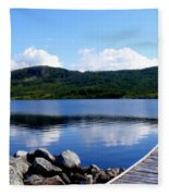 Fishing Day - Calm Waters - Digital Painting Fleece Blanket