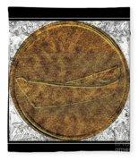Fishing Dory - Brass Etching Fleece Blanket