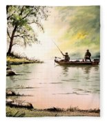 Fishing For Bass - Greenbrier River Fleece Blanket