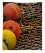 Fishing Gear Abstract Fleece Blanket