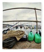 Fishing Gear Fleece Blanket