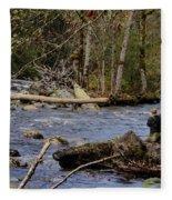 Fishing In Pacific Northwest Fleece Blanket