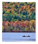 Fishing In The Fall Colors On Lake Chocorua Fleece Blanket