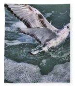 Fishing In The Foam Fleece Blanket