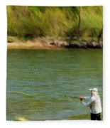 Fishing Lake Taneycomo Fleece Blanket