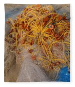 Fishing Nets Fleece Blanket
