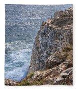 Fishing On The Cliffs Fleece Blanket