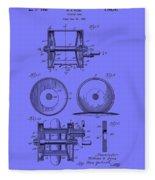 Fishing Reel Patent 1930 Fleece Blanket