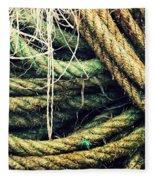 Fishing Rope Textures Fleece Blanket