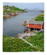 Fishing Stage Little Fogo Island Newfoundland Fleece Blanket