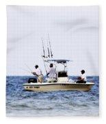 Fishing The Shallows Fleece Blanket