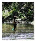 Fishing The Wissahickon Fleece Blanket
