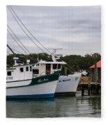 Fishing Trawlers Fleece Blanket