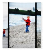 Fishing With Dad - Catch And Release Fleece Blanket