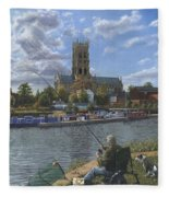 Fishing With Oscar - Doncaster Minster Fleece Blanket