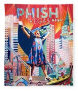 Fishman In Vegas Fleece Blanket