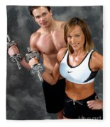 Fitness Couple 17-2 Fleece Blanket