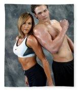 Fitness Couple 43 Fleece Blanket