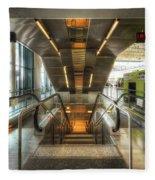 Fiumicino Airport Escalator Fleece Blanket