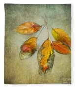 Five Autumn Leaves Fleece Blanket