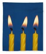Five Candles Burning Fleece Blanket