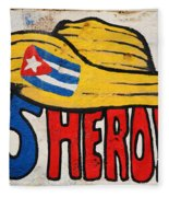 Five Heroes Cuba Fleece Blanket