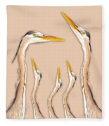 Five Herons Fleece Blanket
