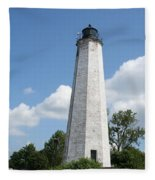 Five Mile Point Lighthouse Fleece Blanket