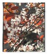 Five Petals - Spring Blossoms Fleece Blanket