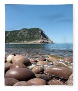 five steps to paradise - Giant pebbles is Menorca north shore close to Cala Pilar beach Fleece Blanket