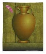 Five Vases One Flower  Fleece Blanket