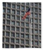 Flag And Windows Fleece Blanket